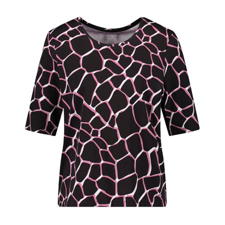 Gerry Weber Abstract Pattern Top Pink  - Click to view a larger image