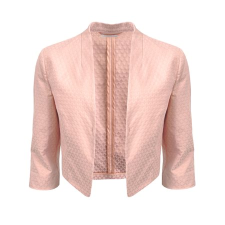 Gerry Weber Short Jacquard Jacket Pink  - Click to view a larger image