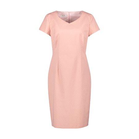Gerry Weber Cap Sleeve Jacquard Dress Pink  - Click to view a larger image