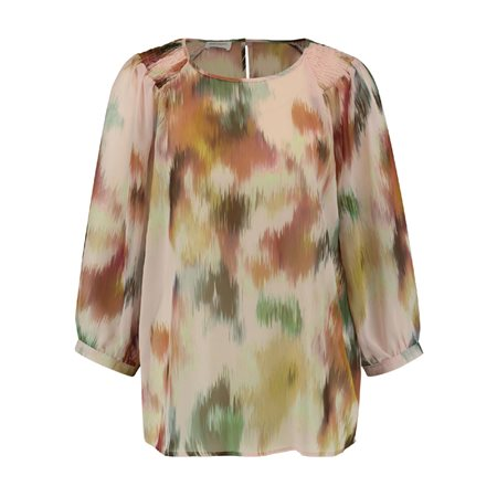 Gerry Weber Satin Top With 3/4 Sleeve Pink  - Click to view a larger image