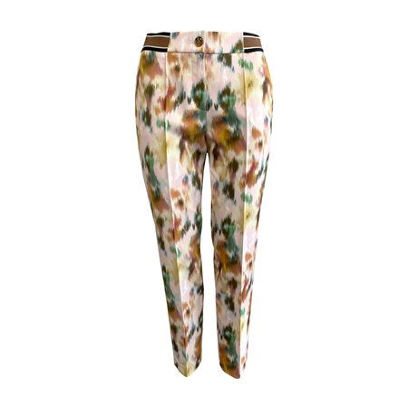 Gerry Weber Graphic Design Trouser Pink  - Click to view a larger image