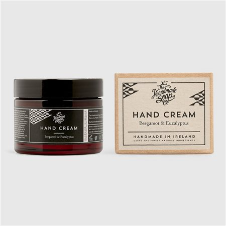 The Handmade Soap Company Bergamot & Eucalyptus Hand Cream Black  - Click to view a larger image