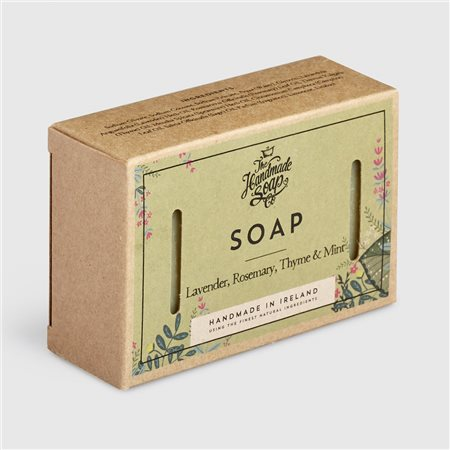 The Handmade Soap Company Lavender/ Rosemary/ Thyme & Mint Soap Green  - Click to view a larger image