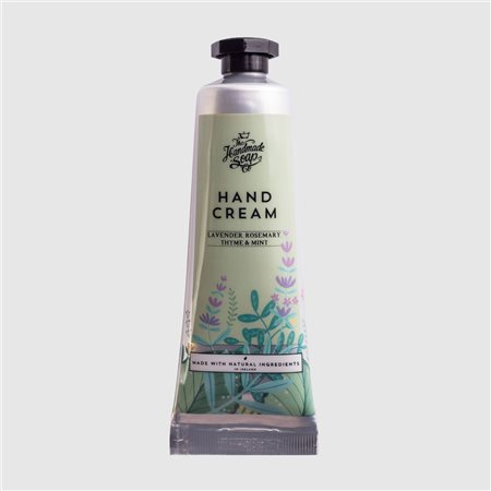 The Handmade Soap Company Lavender/ Rosemary/ Thyme & Mint Hand Cream Tube Green  - Click to view a larger image