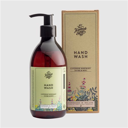 The Handmade Soap Company Lavender/ Rosemary/ Thyme & Mint Hand Wash Green  - Click to view a larger image
