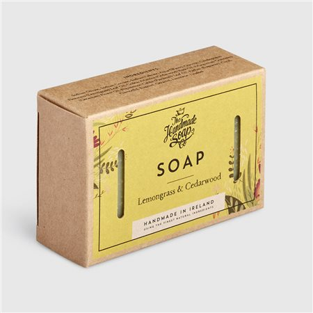 The Handmade Soap Company Lemongrass & Cedarwood Soap Yellow  - Click to view a larger image