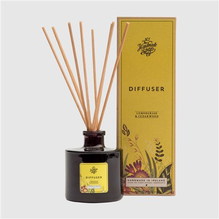 The Handmade Soap Company Lemongrass & Cedarwood Diffuser Yellow  - Click to view a larger image
