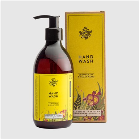 The Handmade Soap Company Lemongrass & Cedarwood Hand Wash Yellow  - Click to view a larger image
