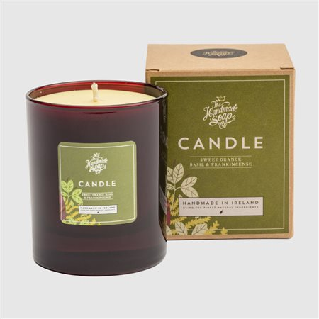 The Handmade Soap Company Sweet Orange/ Basil & Frankincense Candle Orange  - Click to view a larger image