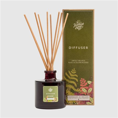 The Handmade Soap Company Sweet Orange/ Basil & Frankincense Diffuser Orange  - Click to view a larger image
