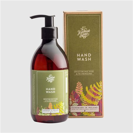 The Handmade Soap Company Sweet Orange/ Basil & Frankincense Hand Wash Orange  - Click to view a larger image
