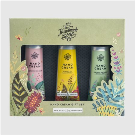 The Handmade Soap Company Hand Cream Gift Set Green  - Click to view a larger image
