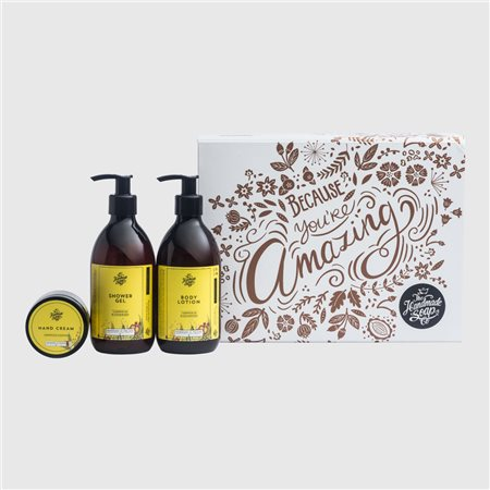 The Handmade Soap Company Because You'Re Amazing Gift Set Yellow  - Click to view a larger image