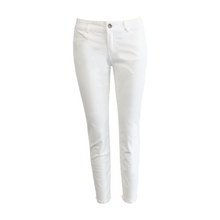 Taifun Cropped Jean With Frayed Hem Off White  - Click to view a larger image