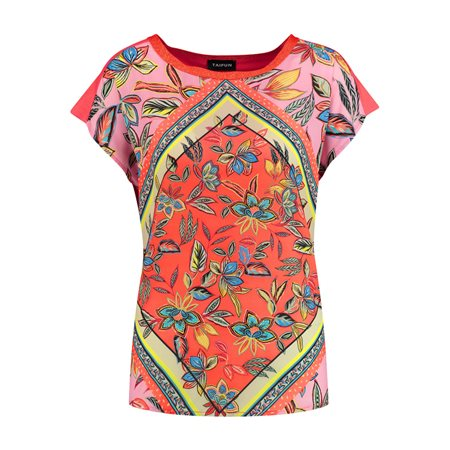 Taifun Graphic Print Top Orange  - Click to view a larger image