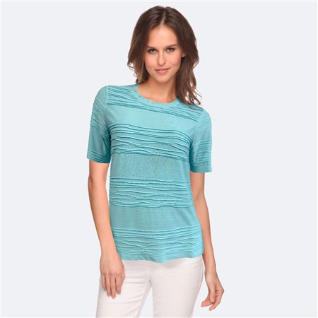 Bicalla Wave Effect Top Turquoise  - Click to view a larger image