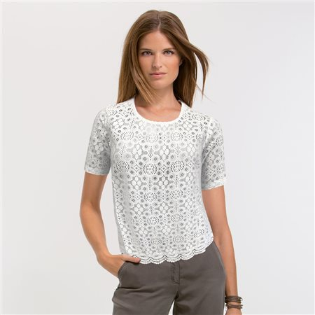 Bicalla Lace Front Top White  - Click to view a larger image
