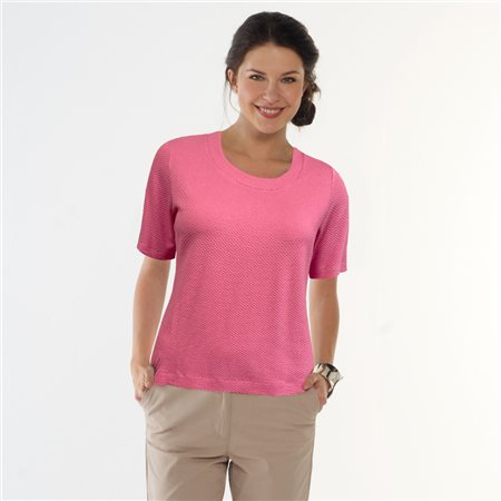 Bicalla Textured Top Pink  - Click to view a larger image