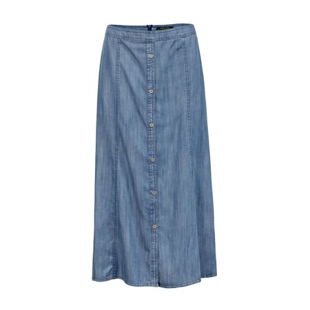 Lebek Denim Skirt Blue  - Click to view a larger image