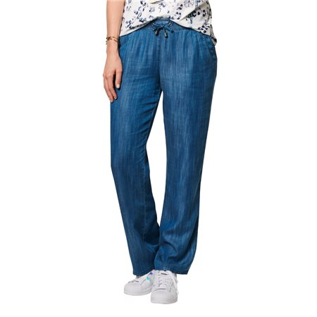 Lebek Lyocell Trousers Blue  - Click to view a larger image