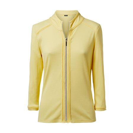 Lebek Lightweight Zip Jacket Yellow  - Click to view a larger image