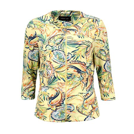 Lebek Floral Print Jacket Yellow  - Click to view a larger image