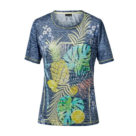 Lebek Burnout Pineapple Top Blue  - Click to view a larger image