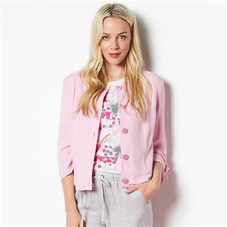 Lebek Linen Jacket Pink  - Click to view a larger image