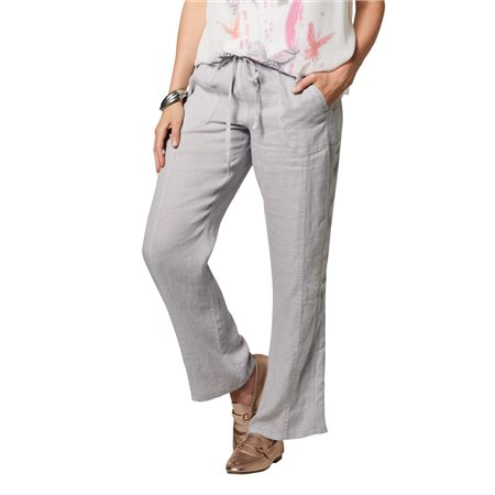 Lebek Linen Trousers Silver  - Click to view a larger image