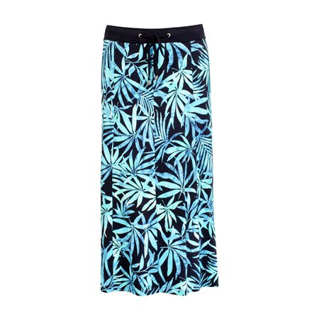 Lebek Leaf Print Skirt Navy  - Click to view a larger image