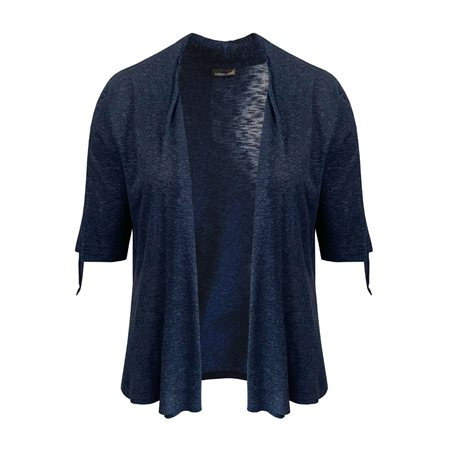 Lebek Fine Knit Cardigan Navy  - Click to view a larger image