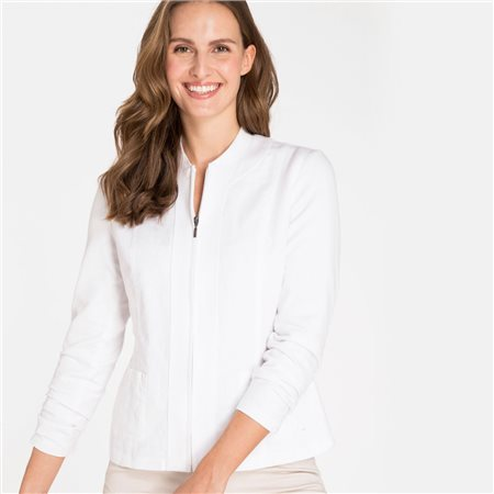 Olsen Zip Jacket White  - Click to view a larger image