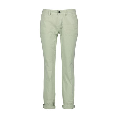 Taifun Cotton Trouser With Turn Up Green  - Click to view a larger image