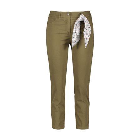 Gerry Weber Best4me 7/8 Crop Jeans Khaki  - Click to view a larger image