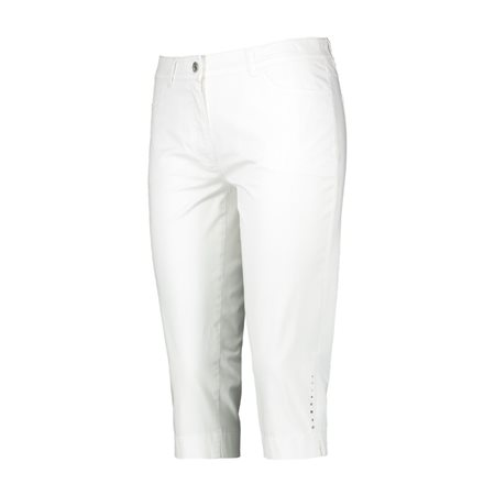 Gerry Weber Straight Fit Capri Trousers White  - Click to view a larger image