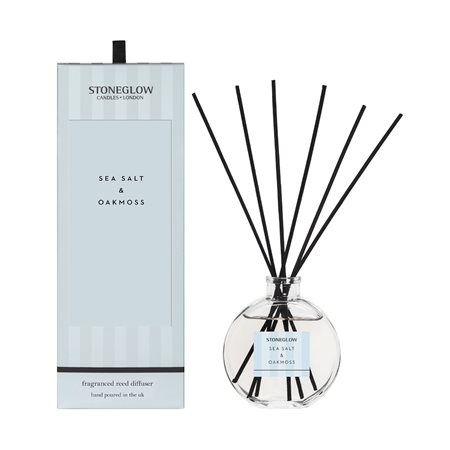 Stoneglow Modern Classics Sea Salt & Oakmoss Reed Diffuser Blue  - Click to view a larger image