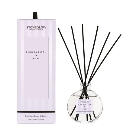Stoneglow Modern Classics Plum Blossom & Musk Reed Diffuser Lilac  - Click to view a larger image