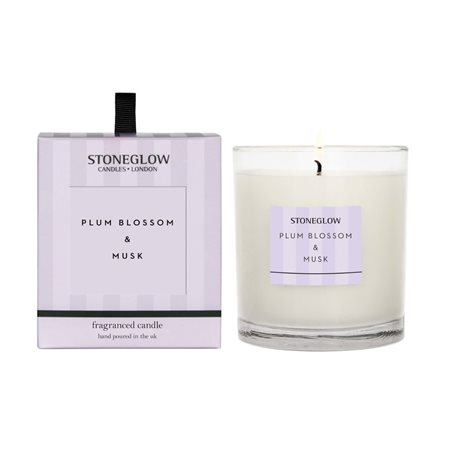 Stoneglow Modern Classics Plum Blossom & Musk Candle Lilac  - Click to view a larger image