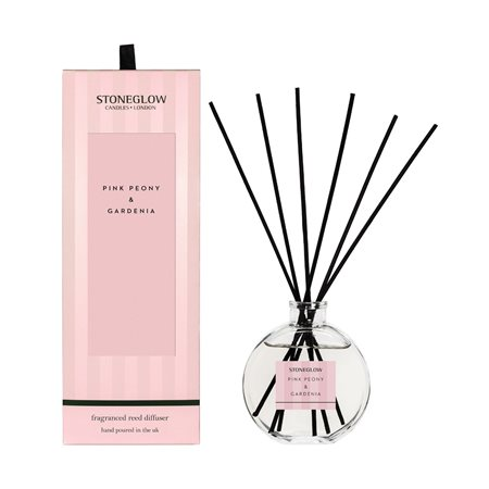 Stoneglow Modern Classics Pink Peony & Gardenia Reed Diffuser Pink  - Click to view a larger image