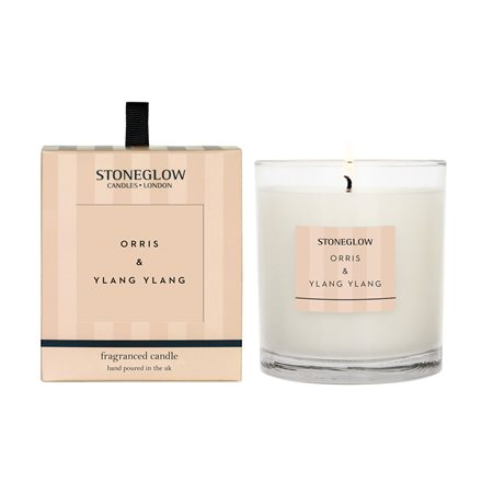 Stoneglow Modern Classics Orris & Ylang Ylang Candle Peach  - Click to view a larger image