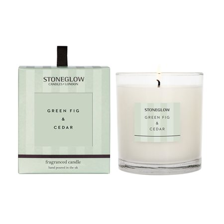 Stoneglow Modern Classics Green Fig & Cedar Candle Green  - Click to view a larger image