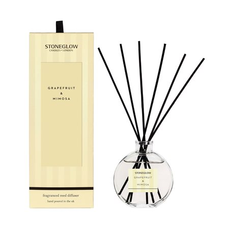 Stoneglow Modern Classics Grapefruit & Mimosa Reed Diffuser Lemon  - Click to view a larger image
