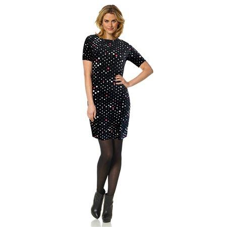 Bicalla Spot Print Dress Black  - Click to view a larger image