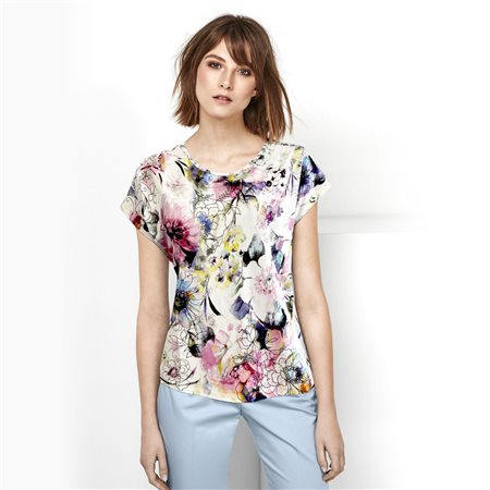 Bicalla Floral Print Top Pink  - Click to view a larger image