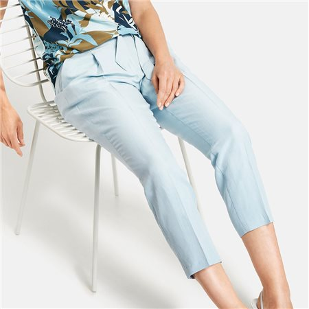Gerry Weber Trousers With Cotton And Linen Blue  - Click to view a larger image