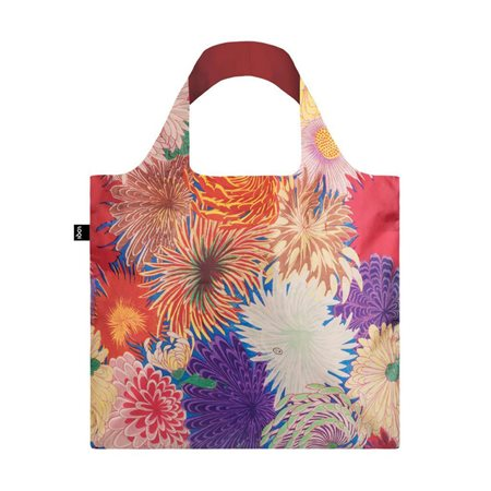 Loqi Japanese Chrysanthemum Bag Pink  - Click to view a larger image