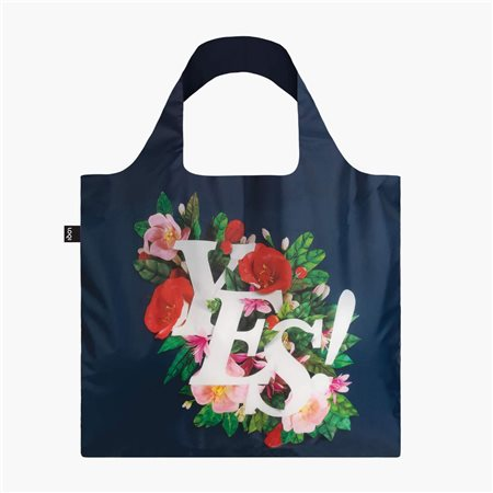 Loqi Yes Floral Bag Navy  - Click to view a larger image