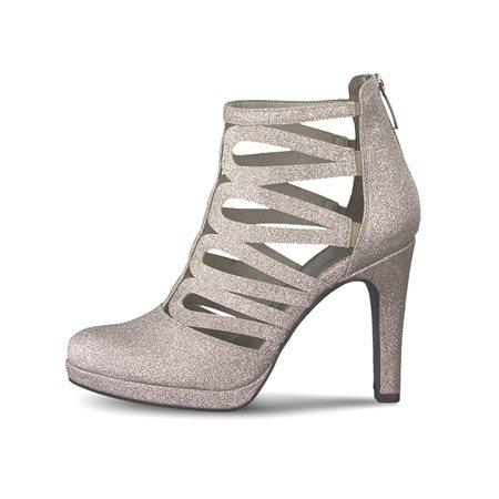 Tamaris Donna Heeled Sandal Silver  - Click to view a larger image