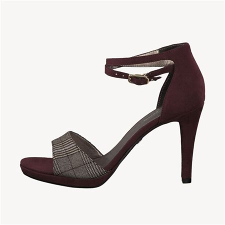 Tamaris Gemma Heeled Sandal Merlot  - Click to view a larger image
