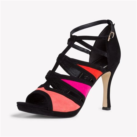 Tamaris Redbud Heeled Sandal Black  - Click to view a larger image